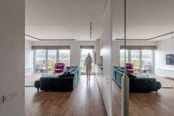 Trijų kambarių buto interjeras (B. Šileikos nuotr.)