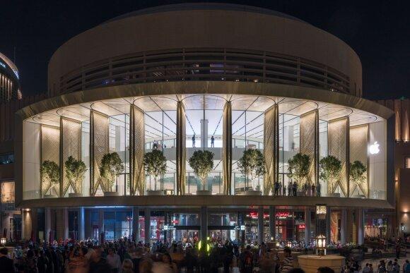 """Apple"" prekybos centro fasadas"