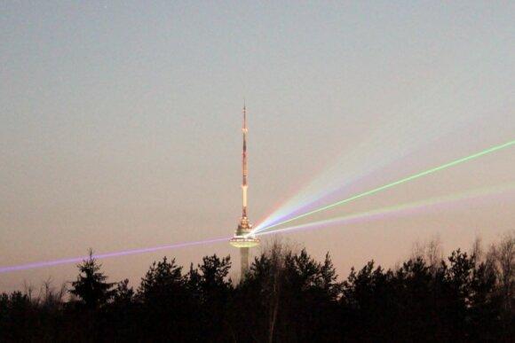Вильнюсская телебашня в праздники преподнесет сюрприз