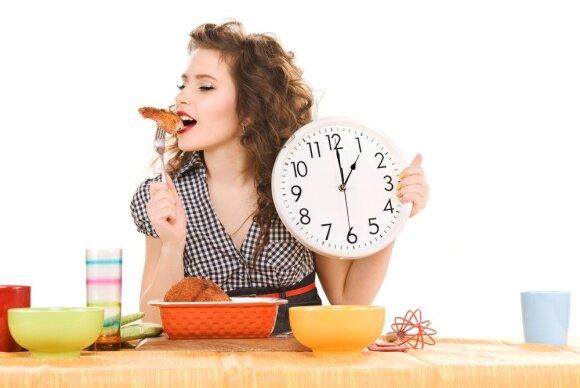 Valgykite reguliariai