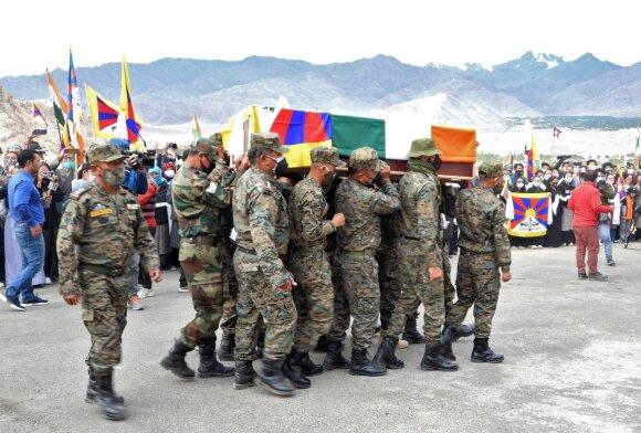 Tibeto kario Tenzino Nyima laidotuvės