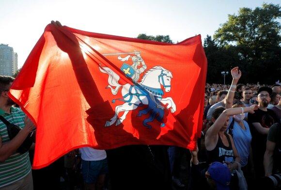 Svetlanos Tichanovskajos palaikymo mitingas Minske