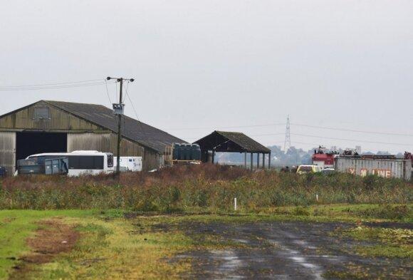 Американский истребитель разбился на востоке Англии