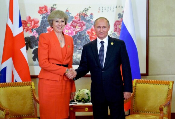 Theresa May ir Vladimiras Putinas