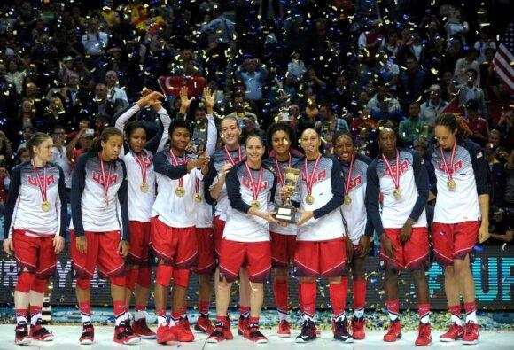 JAV krepšininkės - pasaulio čempionės