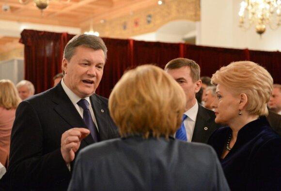 Viktoras Janukovyčius, Dalia Grybauskaitė