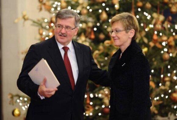 Lietuvos Respublikos ambasadorė Lenkijoje Loreta Zakarevičienė ir Lenkijos Prezidentas Bronislowas Komorowskis