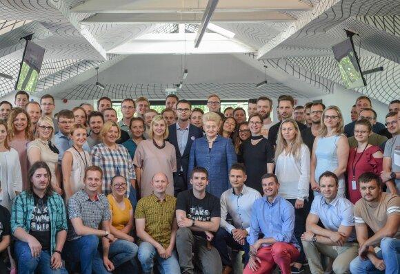 Kauno Devbridge komanda su Prezidente