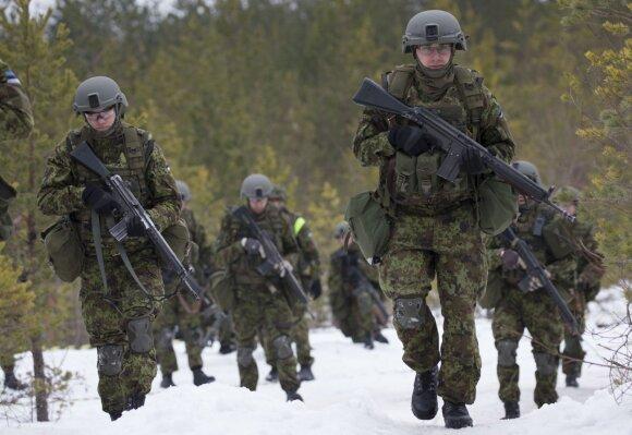 Estijos kariai pratybose