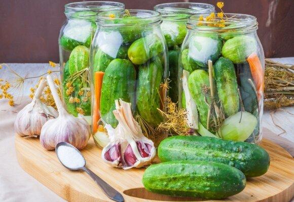 10 geriausių agurkų konservavimo receptų