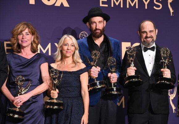 """Emmy 2019 apdovanojimai, serialo """"Černobylis"""" kūrėjai"""