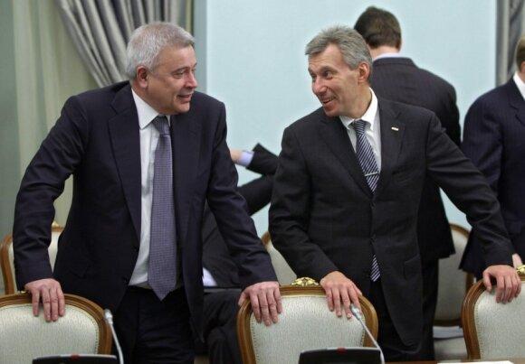 Iš kairės: Vagitas Alekperovas ir Germanas Khanas