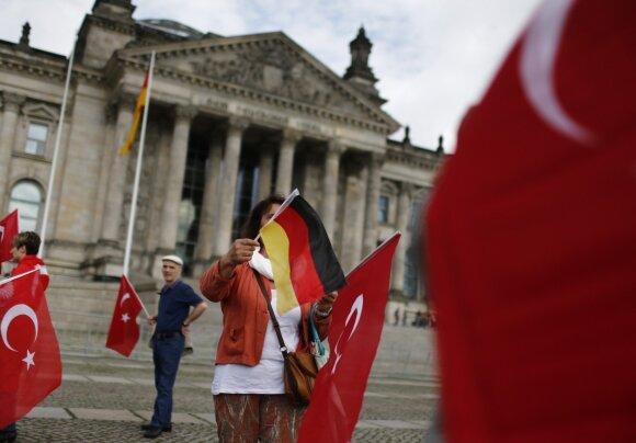 Turkijos vėliavos prie Bundestago