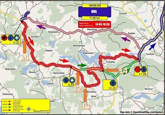 """DHL Rally Elektrėnai 2016"" 6-8 GR"
