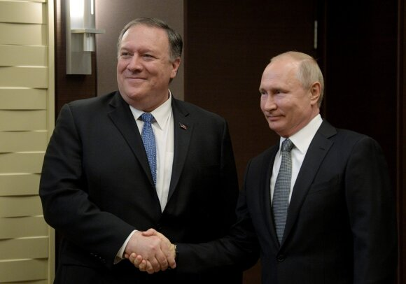 Mike'as Pompeo, Vladimiras Putinas