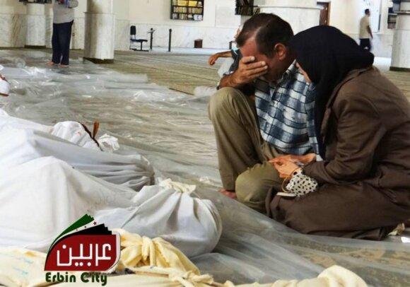Sirijos gyventojai nukentėjo nuo dujų atakos