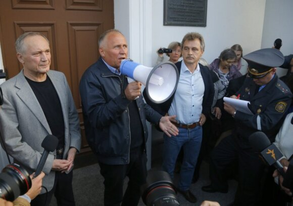 В центре Минска пикетчики критиковали Лукашенко