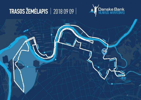 Vilniaus maratono trasa / Foto: vilniausmaratonas.lt
