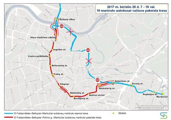 10 maršruto autobuso trasa
