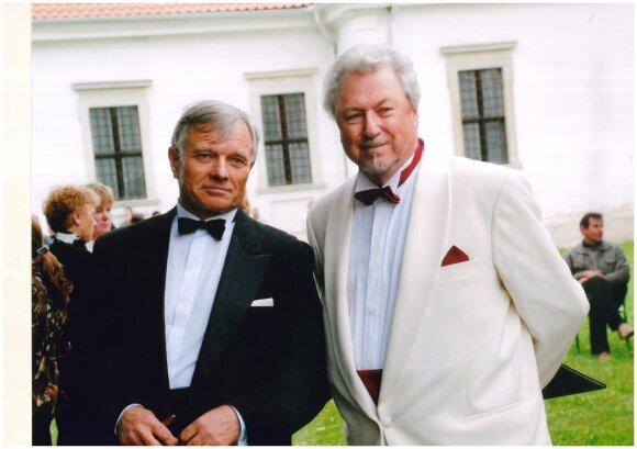 Maestro Virgilijus Noreika ir dirigentas profesorius Petras Bingelis.