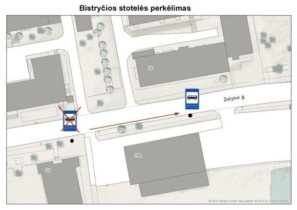 Vilniuje perkelta Bistryčios viešojo transporto stotelė