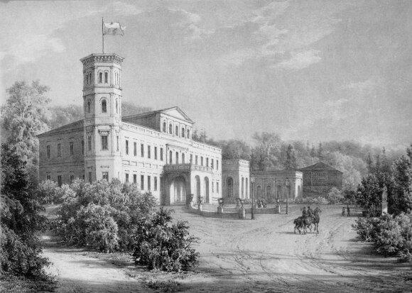 """Napoleonas Orda, """"Rietavo Oginskių rūmai. 1875 m."""""""