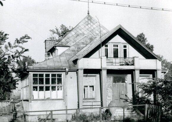P. Rusecko vila Perkūno alėjoje.   1956 m., A. Vasiljevo nuotrauka iš KTU ASI archyvo.