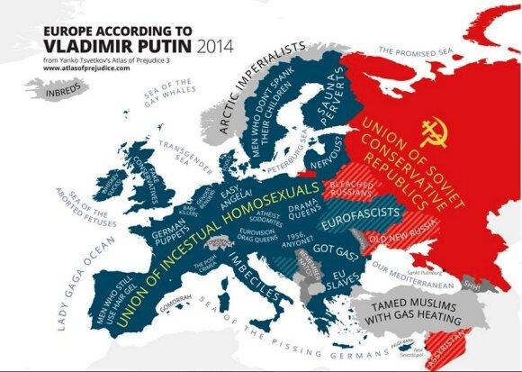 Europa pagal V. Putiną // Yanko Tsvetkov iliustracija