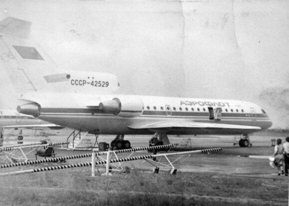 Sudužęs lėktuvas, asmeninio D. Benatovo archyvo nuotr.
