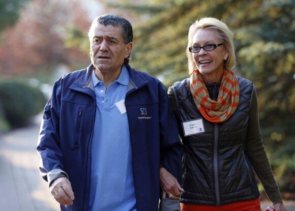 Saban Capital vadovas Haimas Sabanas su žmona