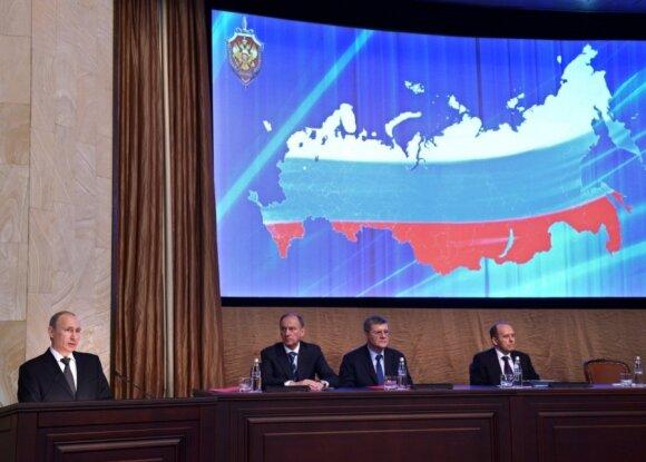 V. Putinas kalba Federalinės saugumo tarnybos pareigūnams