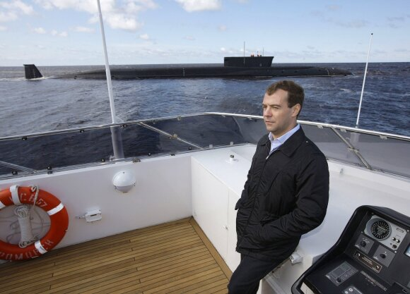 "Dmitrijus Medvedevas laivų gamykloje ""Sevmash"""