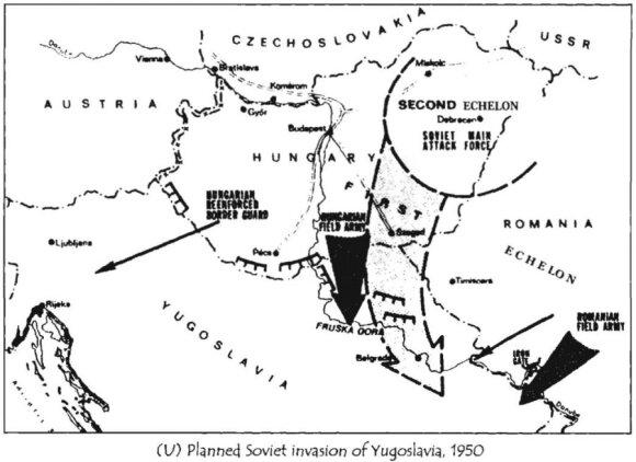 """Invazijos į Jugoslaviją planas (""""Cryptologic Quarterly"""" iliustr.)"""