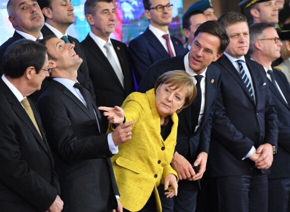 Nicos Anastasiades, Emmanuelis Macronas, Angela Merkel, Markas Rutte