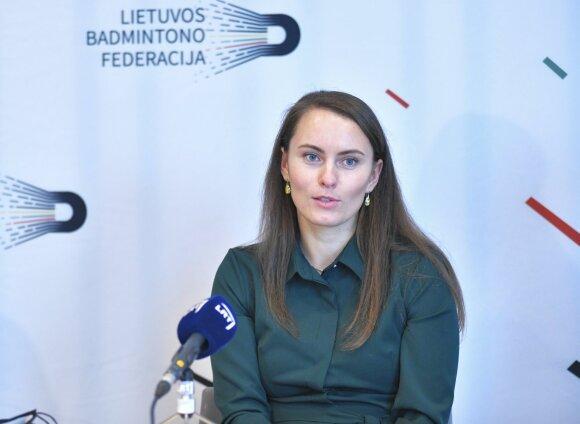 Badmintono trenerė Vaida Slušnienė (Nuotr. Aleksas Jaunius)