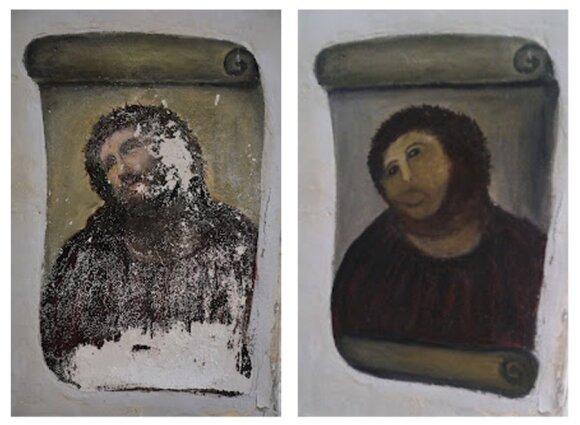 Senolės subjaurota Jėzaus freska