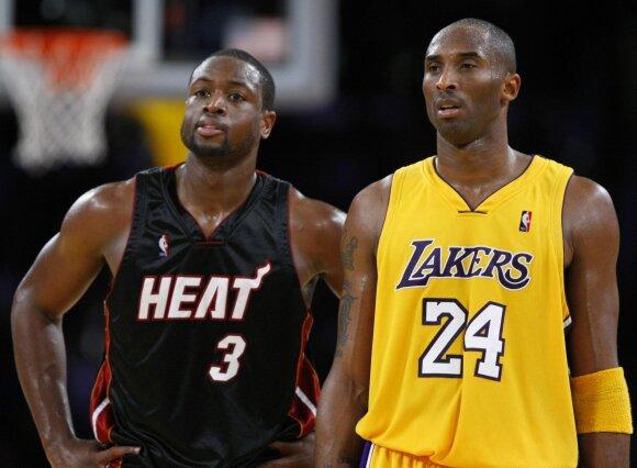 Dwyane'as Wade'as ir Kobe Bryantas