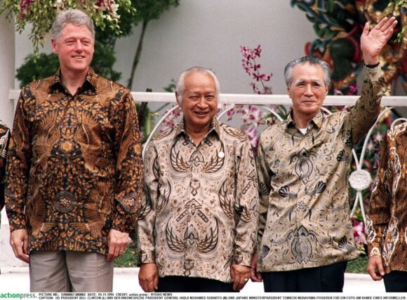 APEC 1994m. Indonezija, Billas Clintonas, H. M. Suharto ir T. Murazama