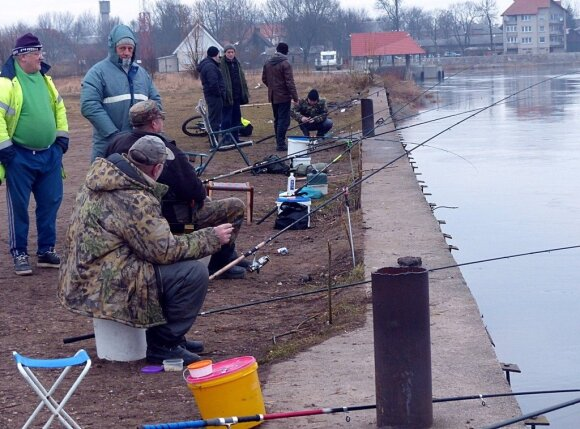Stintų žūklė Rusnėje