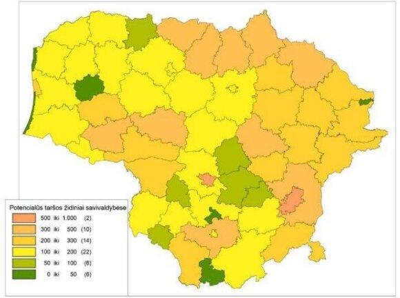 PTŽ savivaldybėse