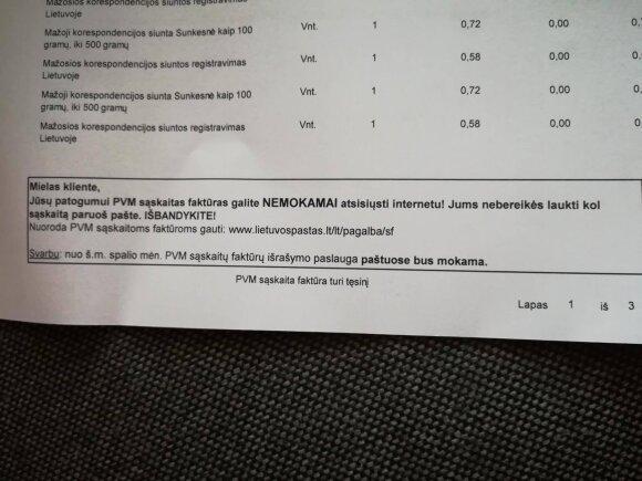 Numatomas naujas Lietuvos pašto mokestis papiktino klientę: jau ir už tai ims pinigus?