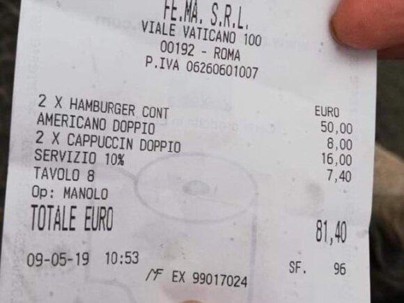 Valgis dviem asmenims kainavo 81,40 euro