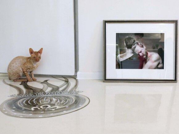 Išraiškingoje Mindaugo Meškausko nuotraukoje – Nomeda ir Vytas, kai vyras grįžo iš septynis mėnesius trukusio plaukiojimo