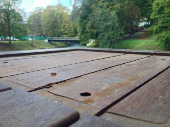 Šachmatų lentos Bernardinų sode