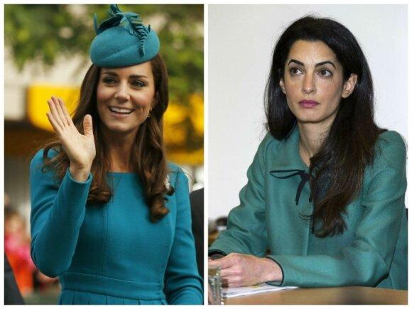 Kate Middleton ir Amal Alamuddin stilius