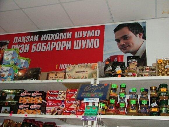 Leonardas Pobedonoscevas kavos reklamoje, N.Markovskajos nuotr.
