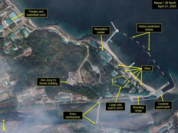 Palydovų darytose nuotraukose matomas Kim Jong Uno traukinys