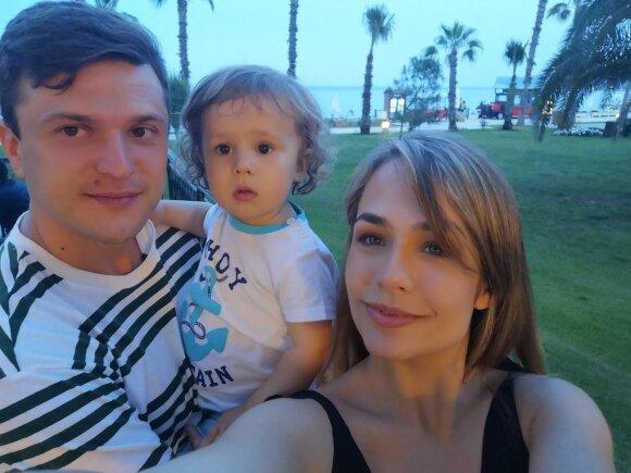 Su sūnumi Tomu ir žmona Gabriele besidžiaugiant vasaros atostogomis Kemere.
