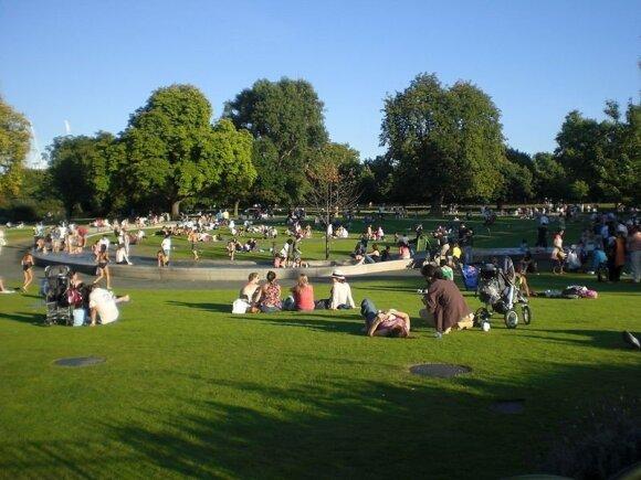 Dianos memorialas Hyde Parke, autorių nuotr.