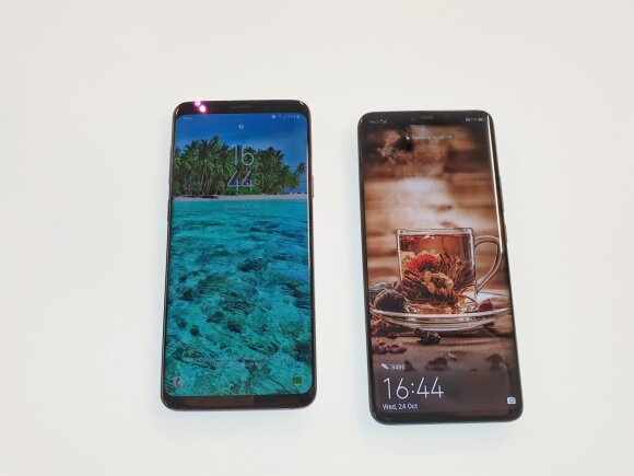 Samsung Galaxy S9+ ir Huawei Mate 20 Pro